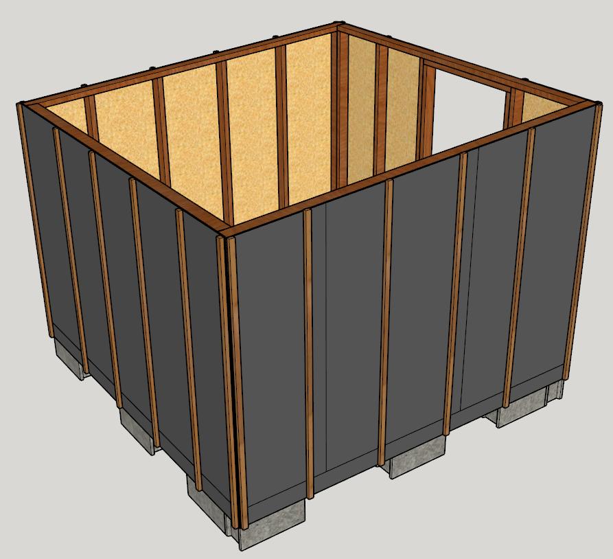 abri de jardin en bois nos plans 3d comme un pingouin dans le d sert. Black Bedroom Furniture Sets. Home Design Ideas