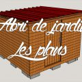 plan 3D de l'abri de jardin en bois