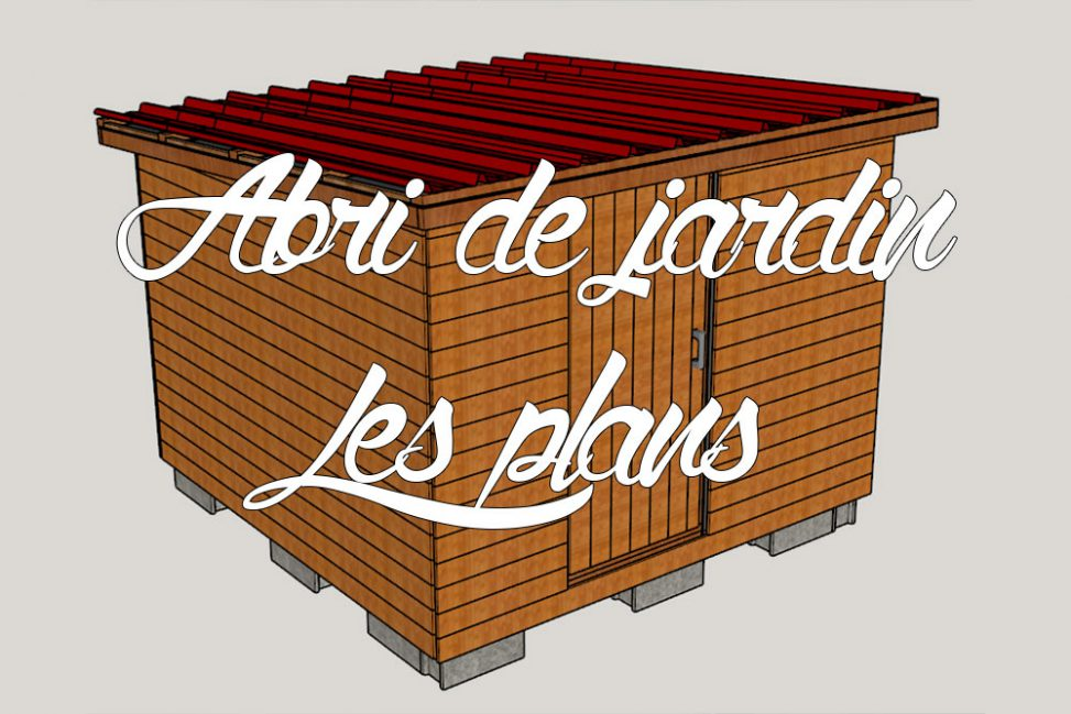 abri de jardin en bois nos plans 3d comme un pingouin dans le d sert. Black Bedroom Furniture Sets. Home Design Ideas