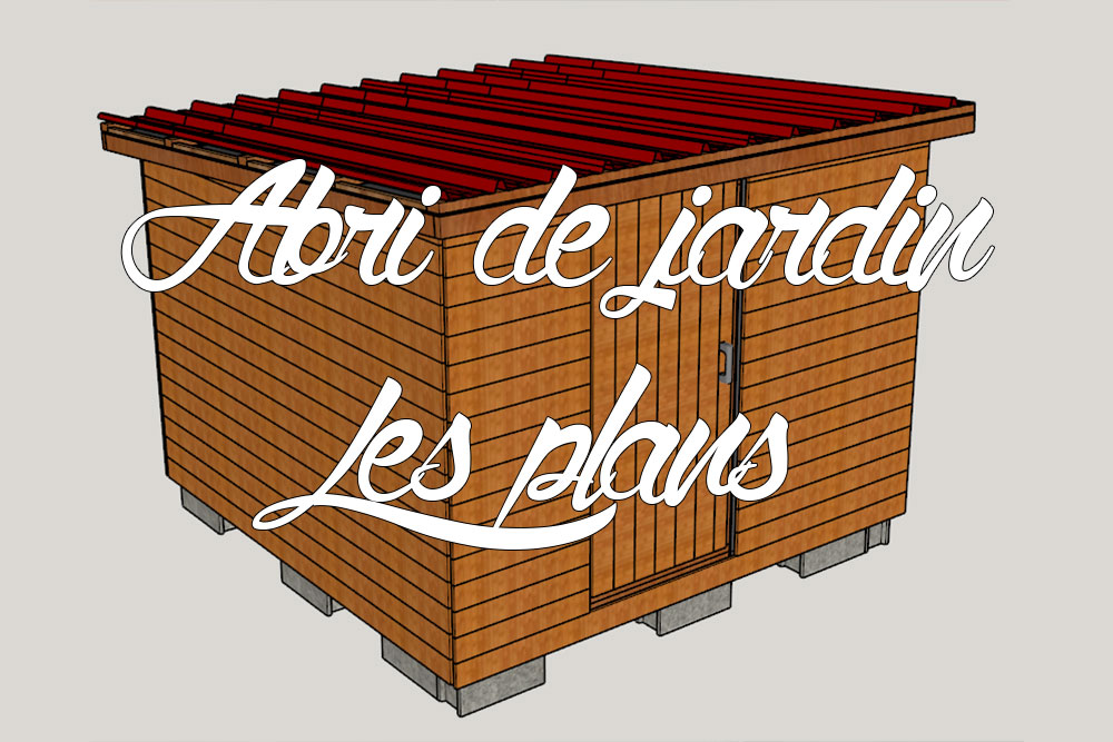 abri de jardin en bois nos plans 3d comme un pingouin. Black Bedroom Furniture Sets. Home Design Ideas