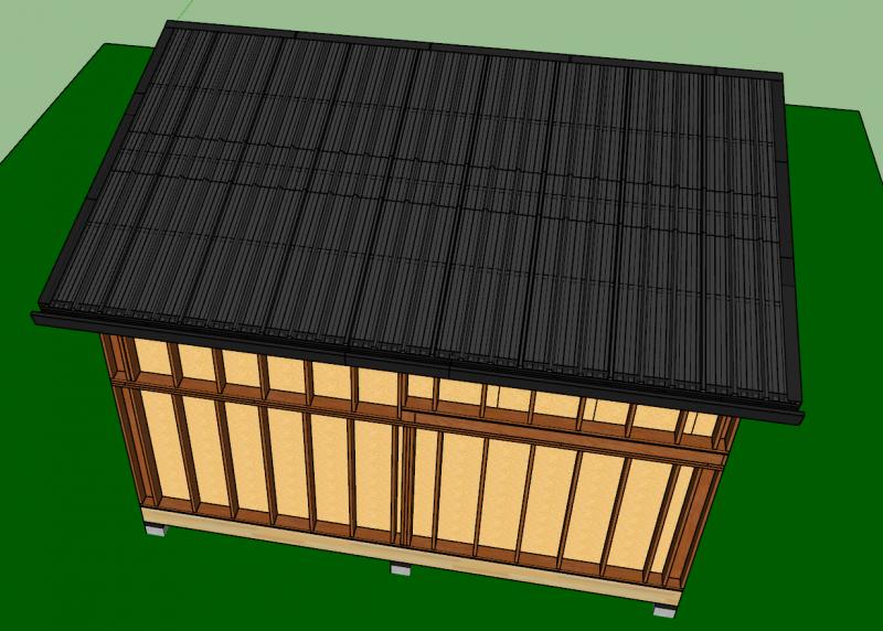 bac acier sur toit mono-pente