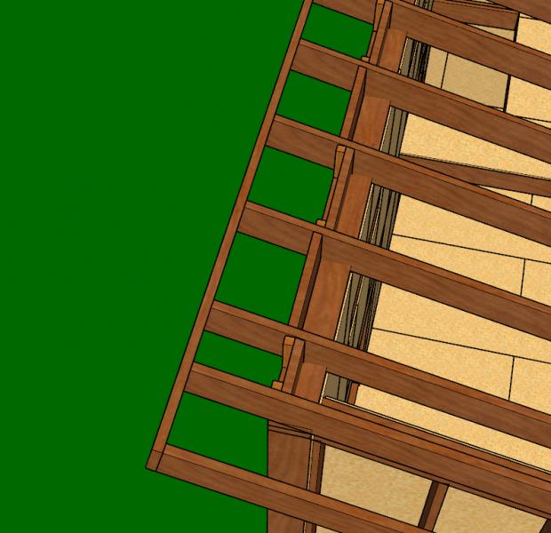 cache moineau du toit mono-pente ossature bois