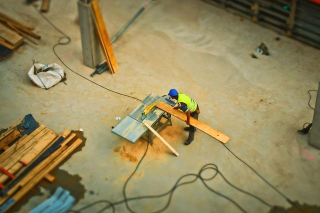 chantier sec pour une maison en ossature bois