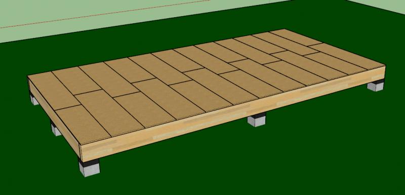 Finitions de la dalle bois avec de l'osb