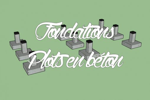 Fondations MOB plots en béton