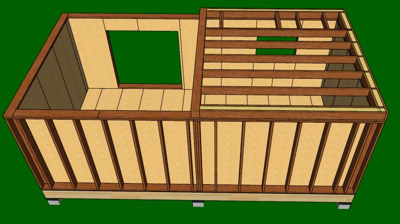mezzanine en ossature bois