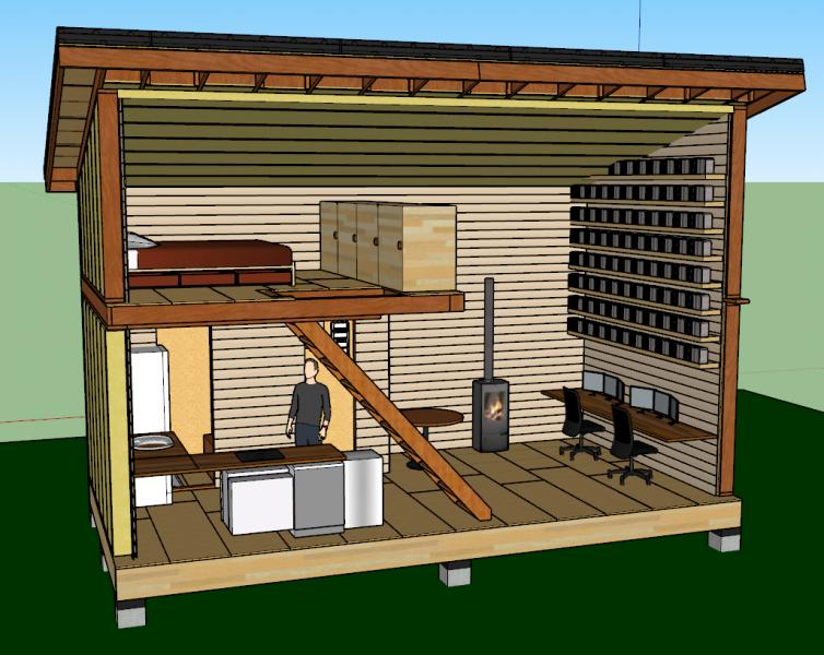 Plan aménagement tiny house
