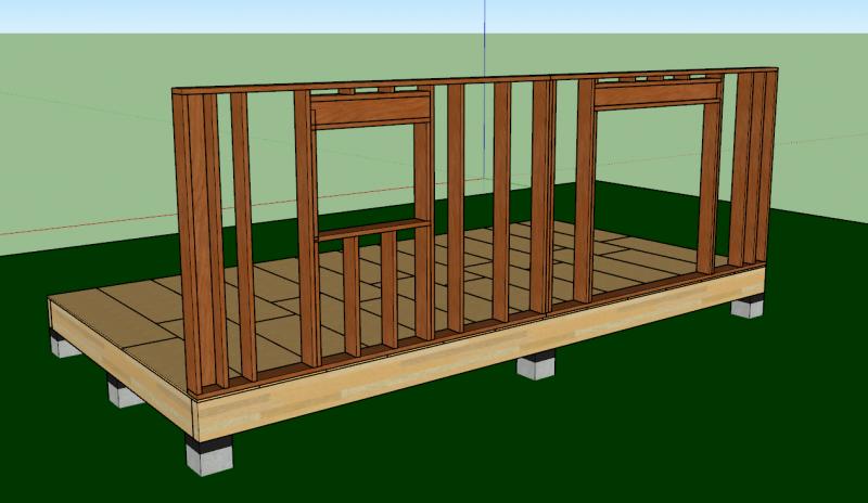 structure de murs en ossature bois