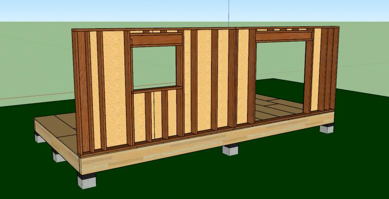 contreventement de murs en ossature bois