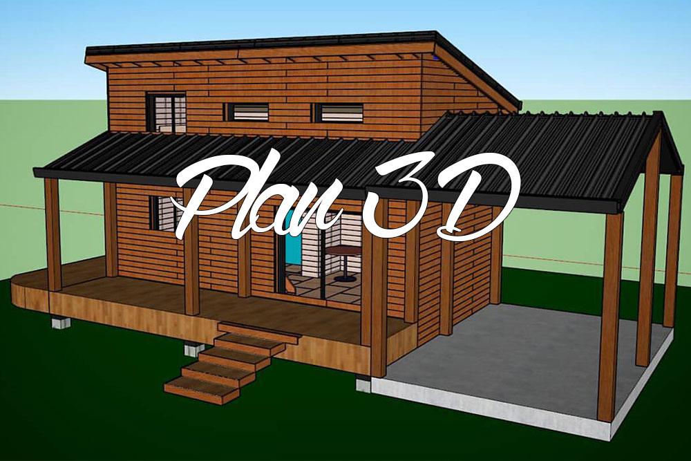 plans 3d de notre maison en ossature bois comme un. Black Bedroom Furniture Sets. Home Design Ideas
