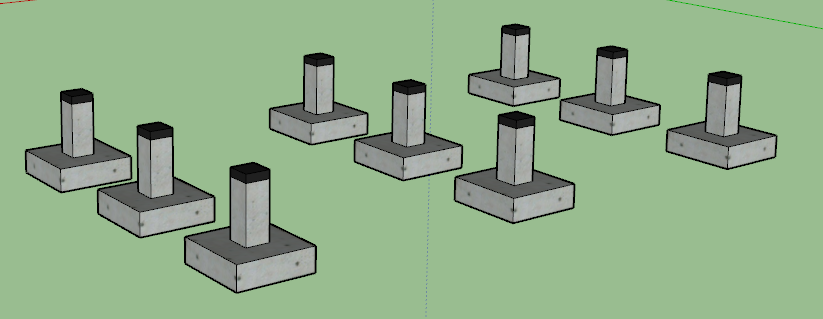 fondations en plots en b ton plans mob comme un pingouin dans le d sert. Black Bedroom Furniture Sets. Home Design Ideas