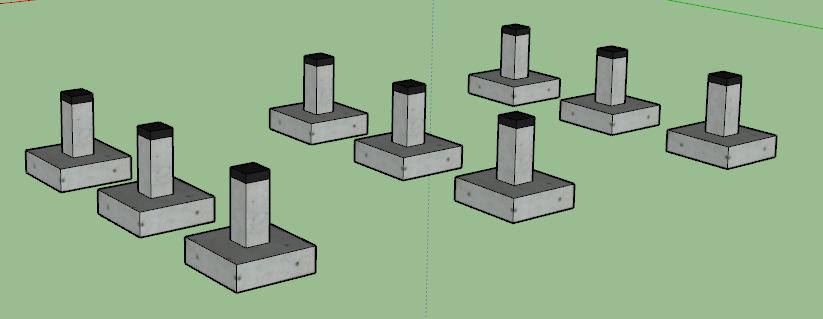 fondations en plots en b ton plans mob comme un. Black Bedroom Furniture Sets. Home Design Ideas