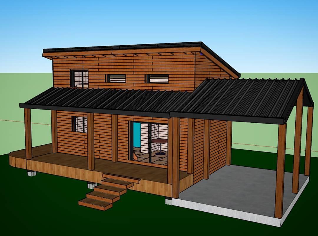 Plans 3d De Notre Maison En Ossature Bois Comme Un Pingouin Dans Le Desert