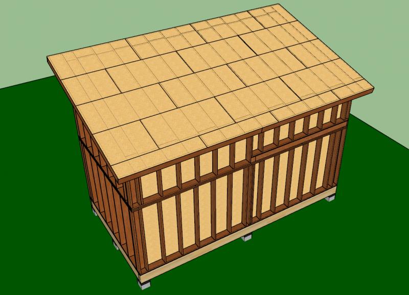 contreventement du toit mono-pente en agepan