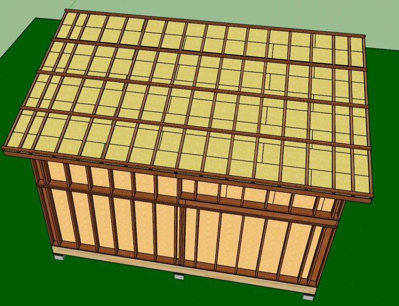 contre lattes pour poser le bac acier sur toit mono-pente