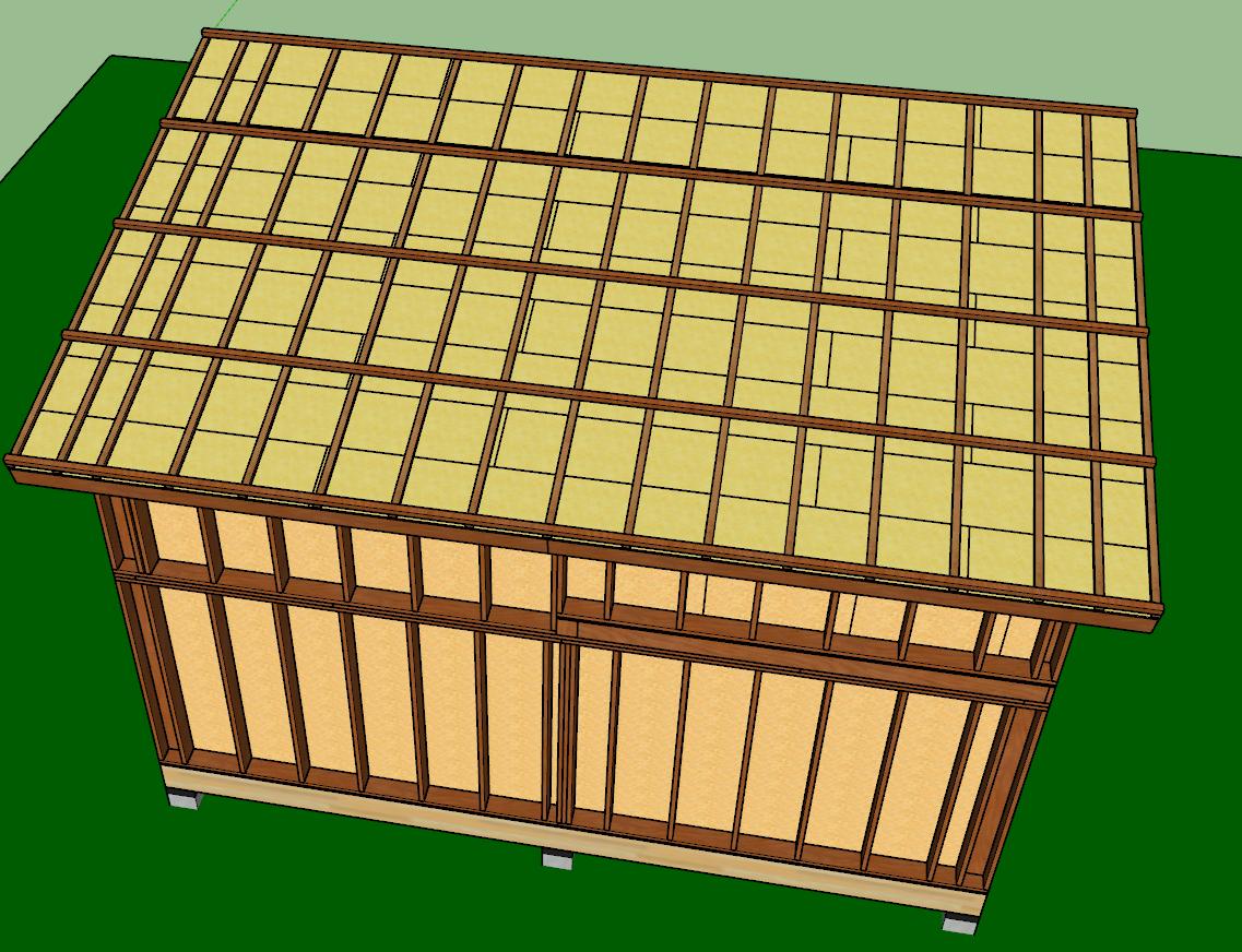 toit mono pente plans mob comme un pingouin dans le d sert. Black Bedroom Furniture Sets. Home Design Ideas