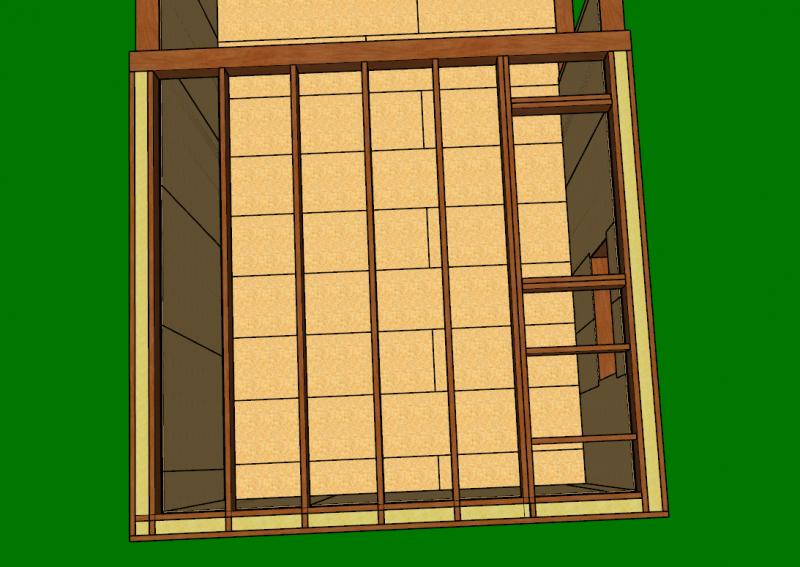 trémie de la mezzanine en ossature bois