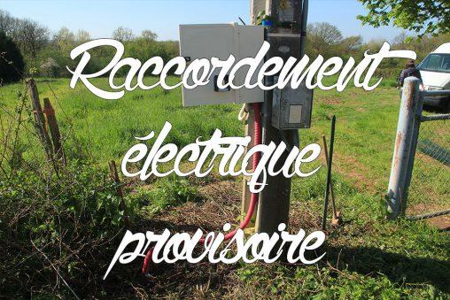 Raccordement électrique provisoire compteur de chantier