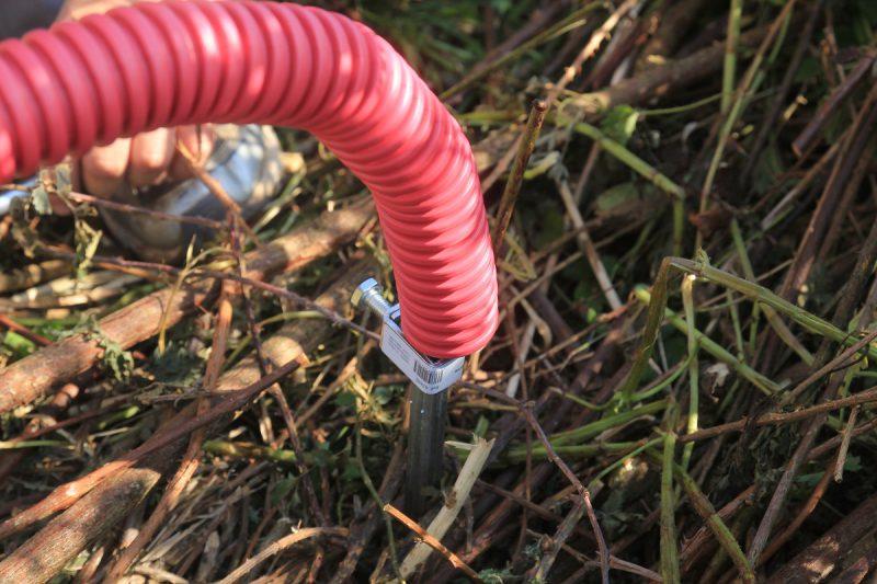 raccordement électrique provisoire : piquet de terre