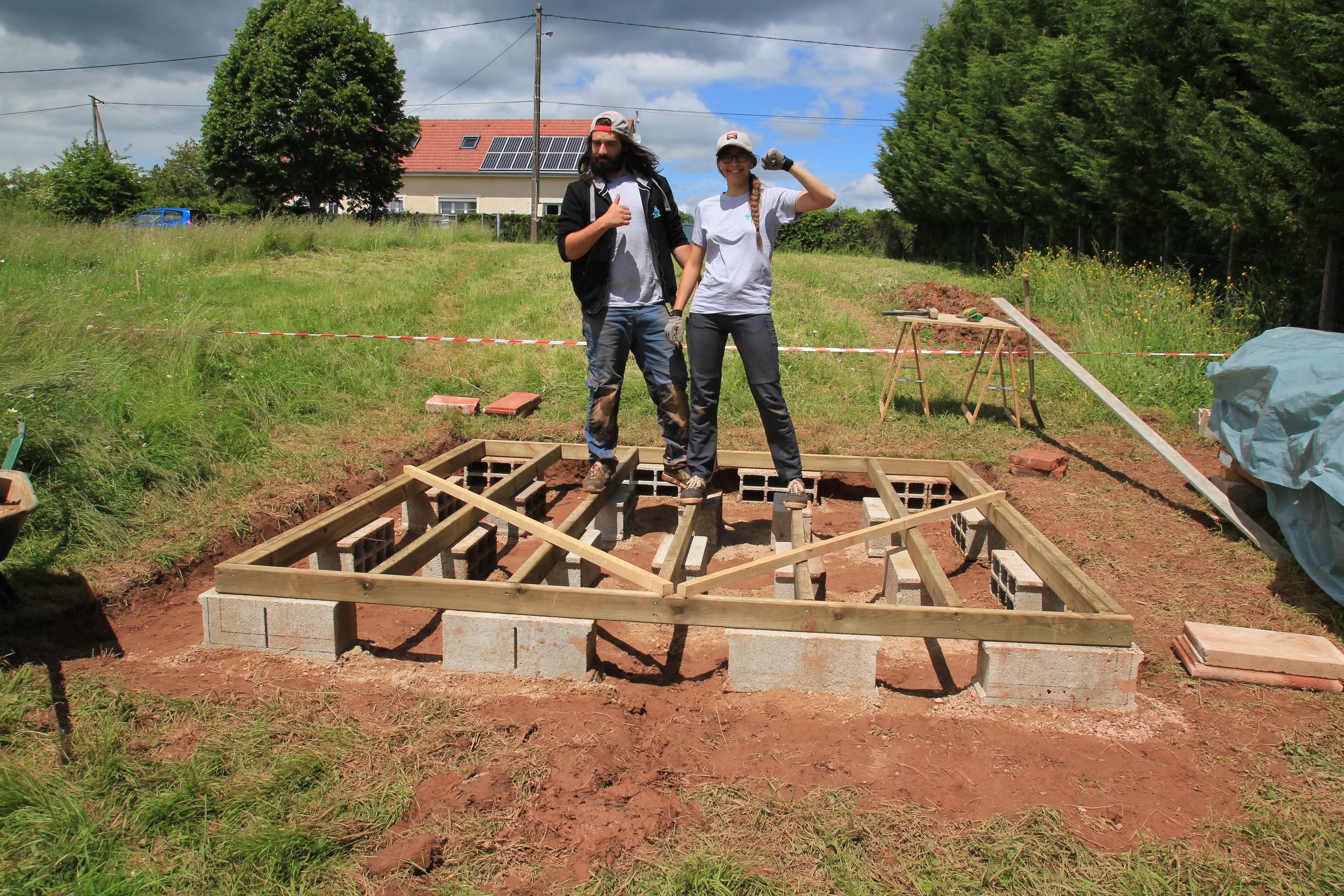 Fondations Et Dalle Bois Suite Et Fin Abri De Jardin Comme  # Abris De Jardin Fin