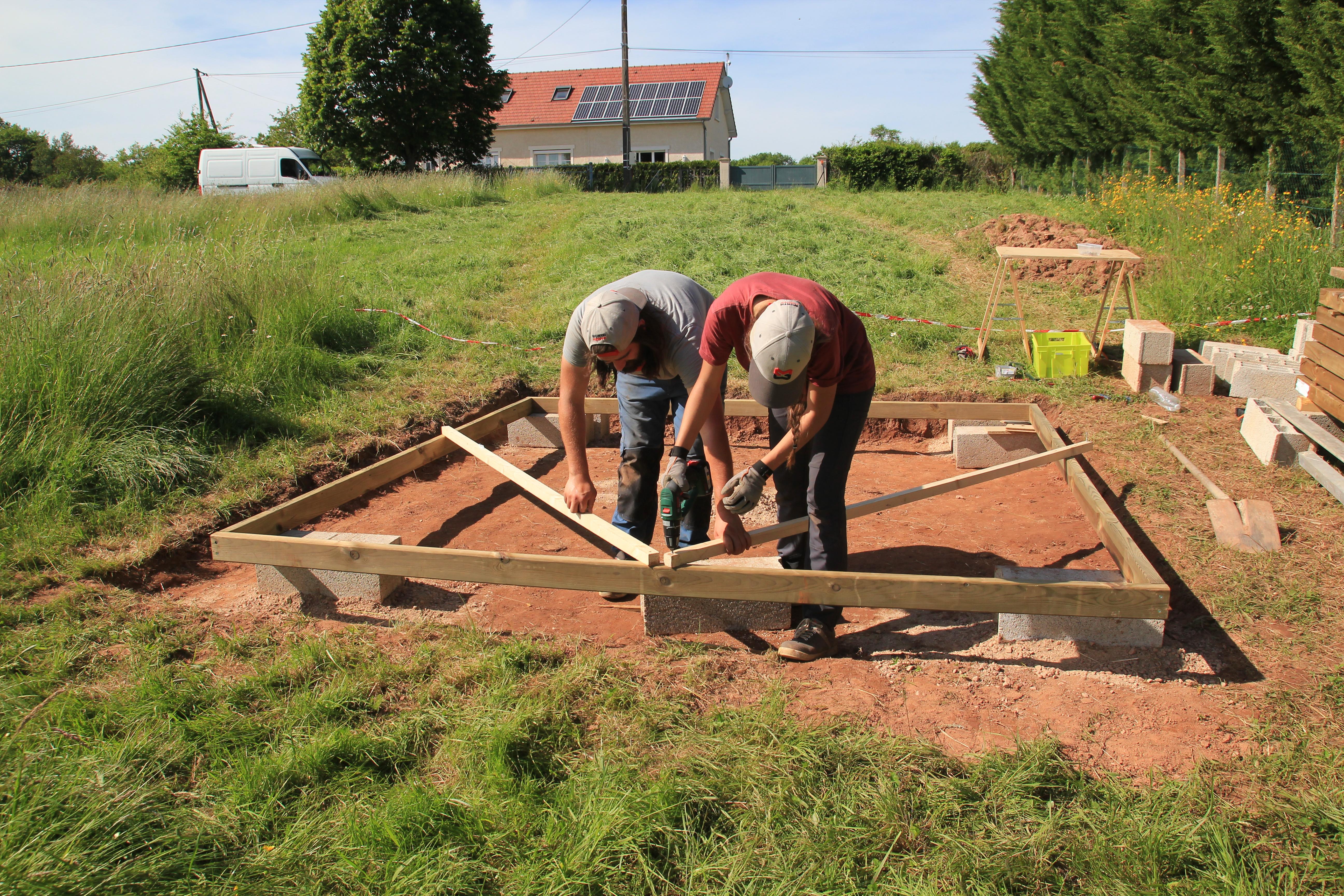 Dalles De Bois Pour Jardin fondations et dalle bois - première partie [abri de jardin