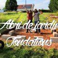 Fondations et dalle bois de l'abri de jardin