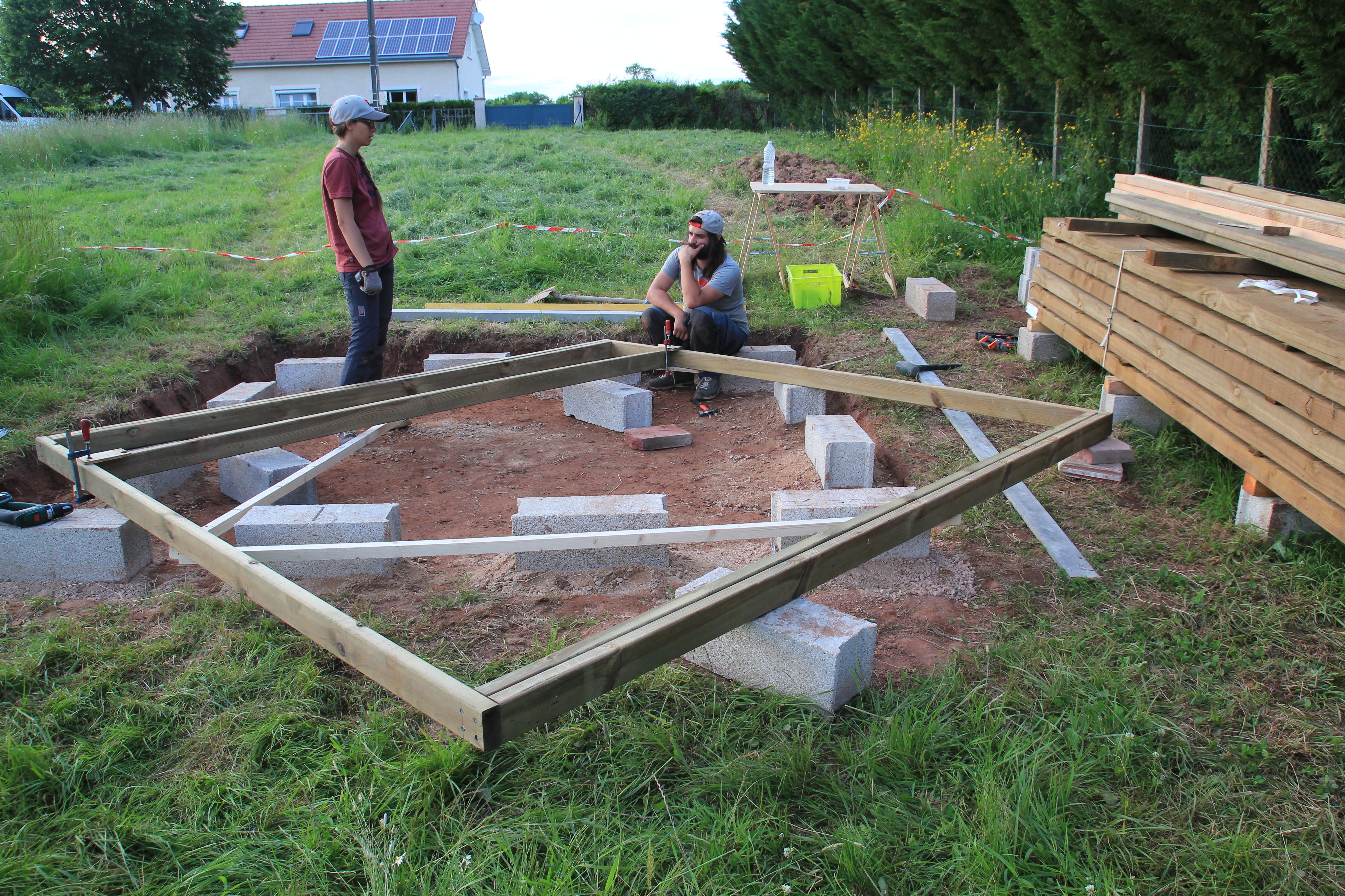 Sur Quoi Poser Un Abri De Jardin fondations et dalle bois - suite et fin [abri de jardin