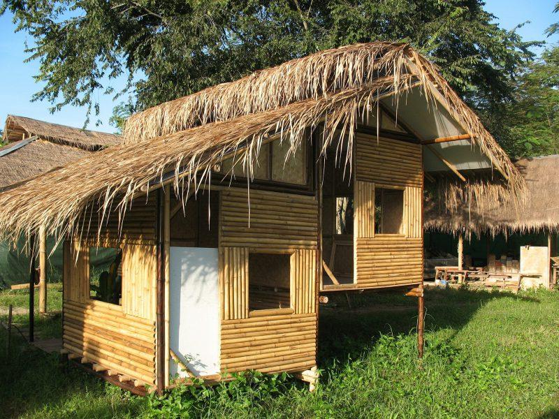 Cabane réalisé en bambou