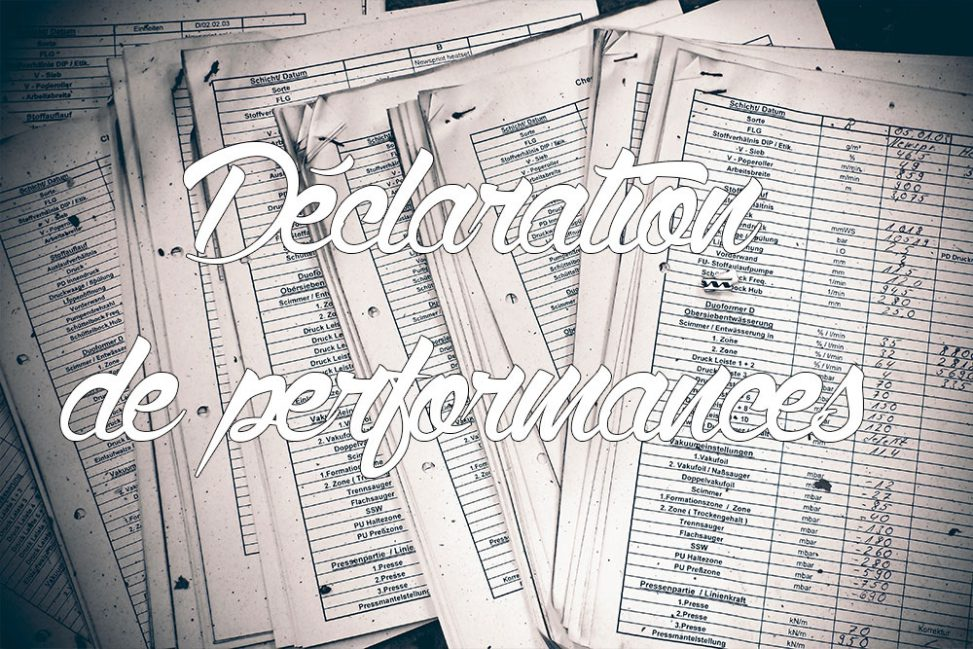 Déclaration de performances