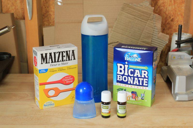 Matériel pour la recette de déodorant