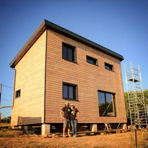 autoconstruction maison ossature bois Salomé et Kevin