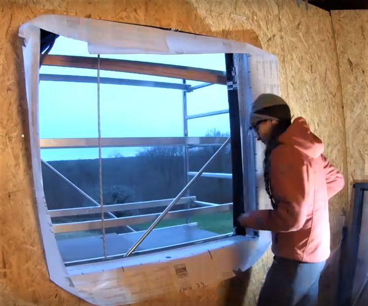 fenêtre en pose tunnel sur ossature bois