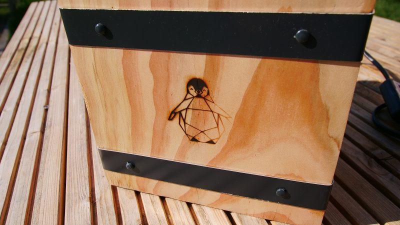 logo sur nos projets DIY à la marque à chaud