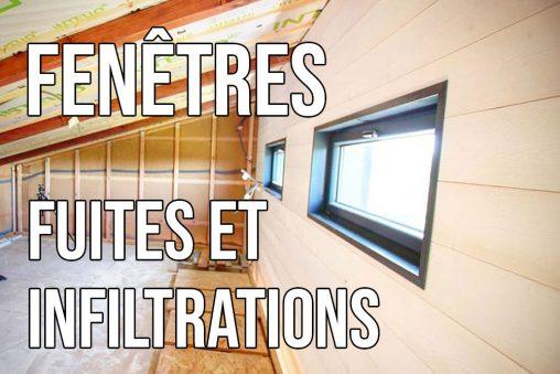 fuites et infiltration au niveau des fenêtres