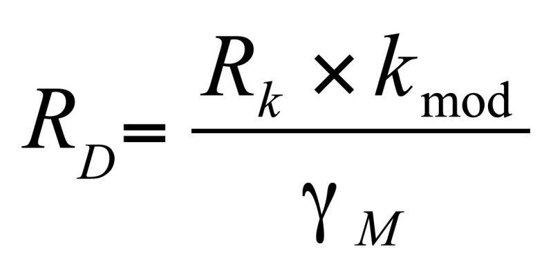 Formule eurocode calcul de la résistance d'une vis à bois