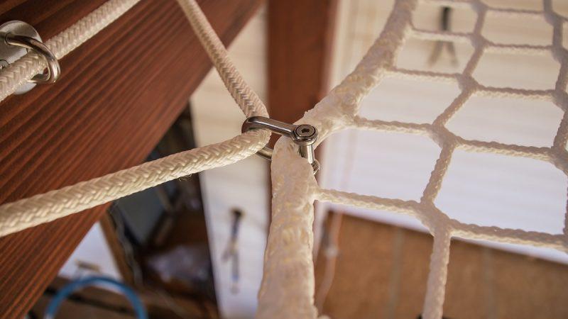 manille inox pour filet d'habitation