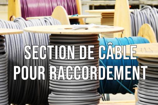 Choix section câble raccordement