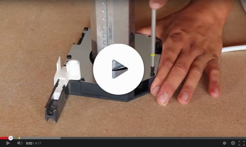Vidéo installation coffre volet roulant électrique