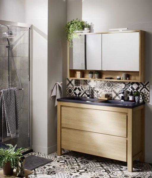 Meuble salle de bain grand rangement