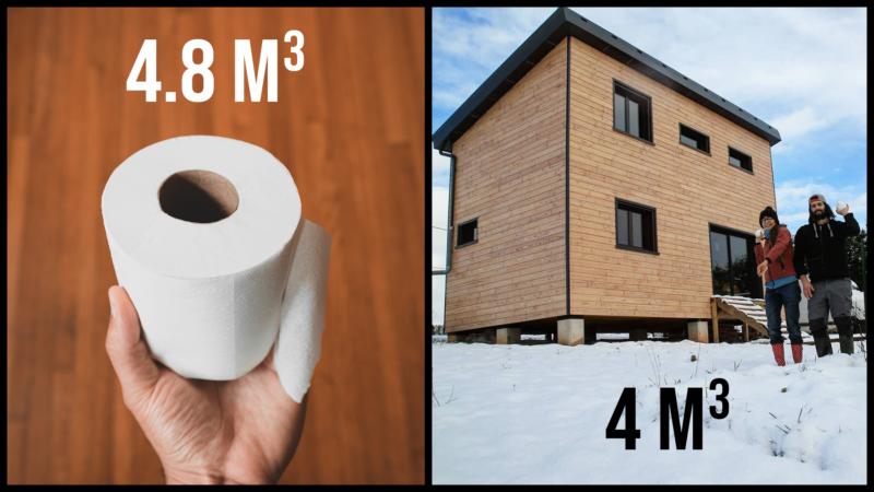 Papier toilette VS maison en bois