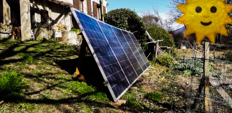 Panneau solaire pour alimenter radiateurs
