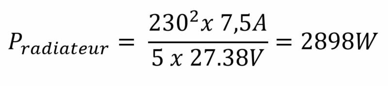 Exemple de calcul pour 5 panneaux solaires