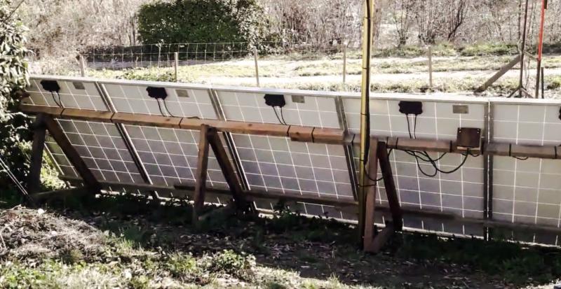 Structure support panneau solaire