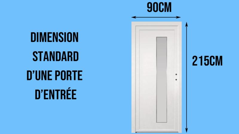 Dimensions standards d'une porte d'entrée
