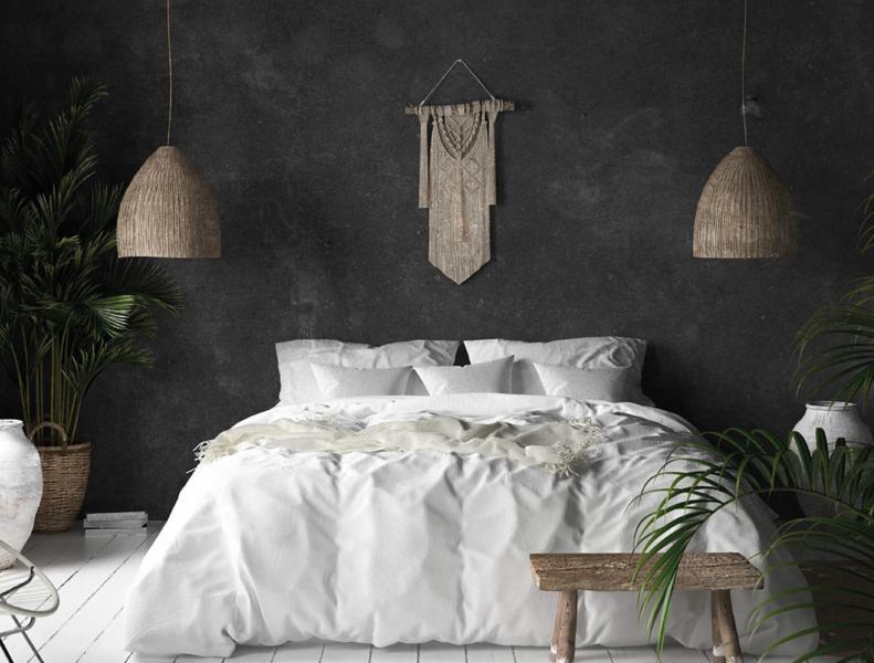 Chambre en béton ciré moderne