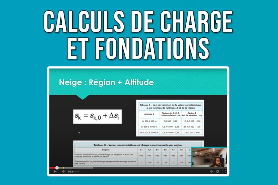 Comment calculer descente de charges fondations