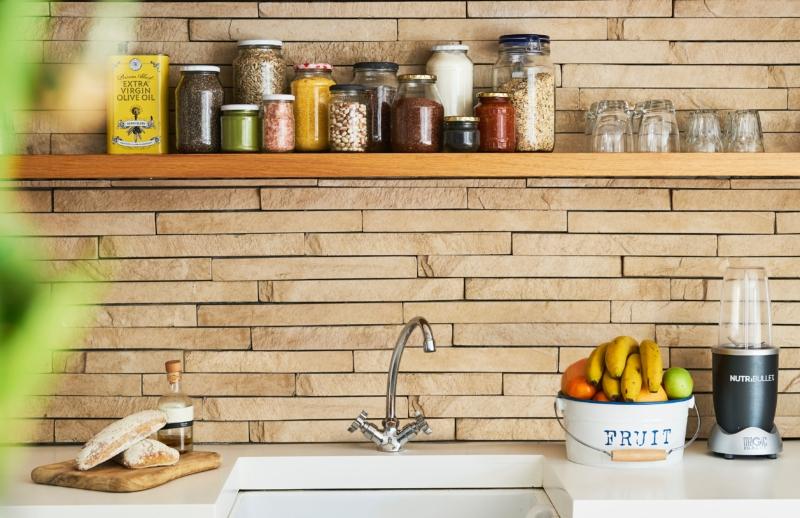 Bocaux décoratif dans la cuisine