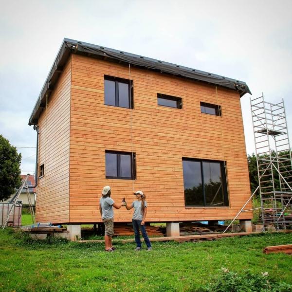Echafaudage maison en bois