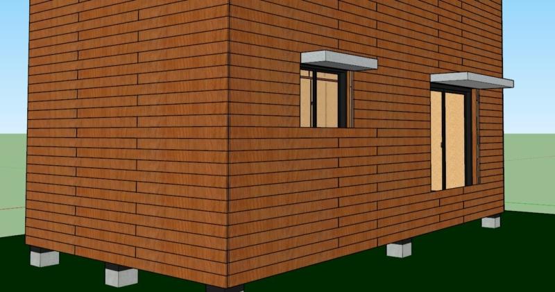Casquette solaire maison bioclimatique